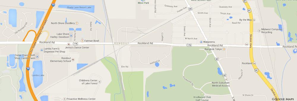 Rondout IL Map