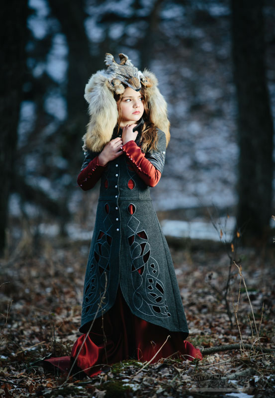 Red Riding Hood Model with Wolf Head Piece