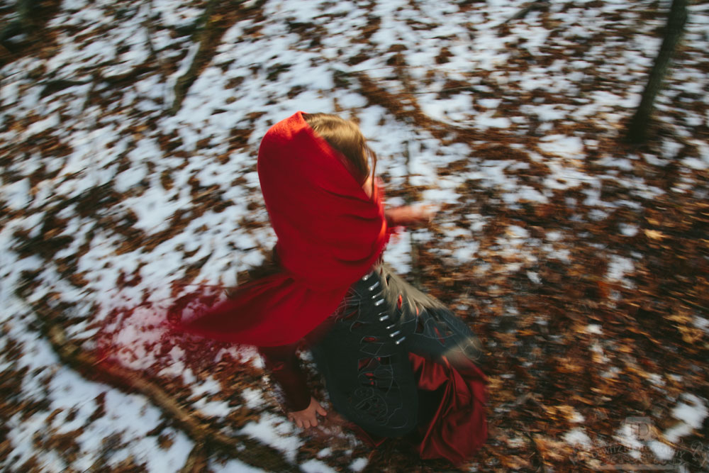 Red Riding Hood Spinning Around