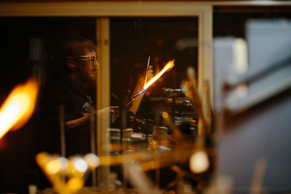 christensen_glass_reflection_working_with_orange_flame