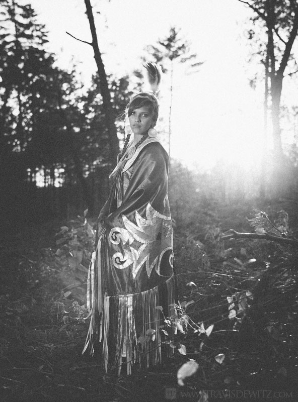 danika_native_american_sunset_woods