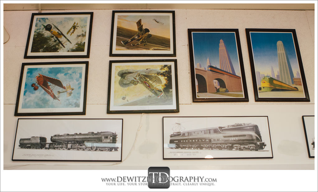 model Train Classics Eau Claire Train and Plane Paintings and Posters