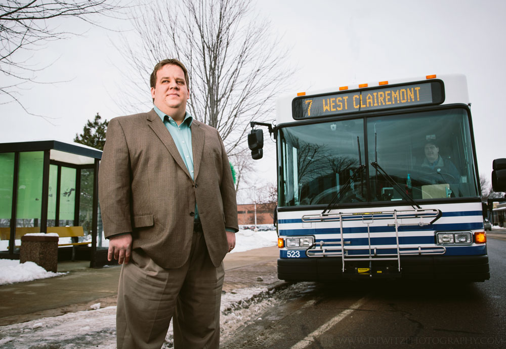 Eau Claire Transit Manager Mike Branco Environmental Portrait