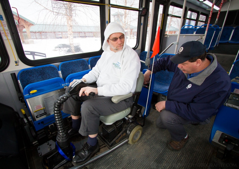 Eau Claire Transit QStraint Motor Scooter Bus Operator