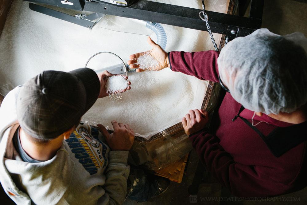 Film Tech Aerial Inspecting Plastic Pellets