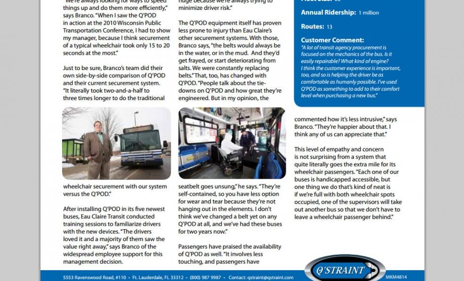 QStraint Eau Claire Case Study Newsletter