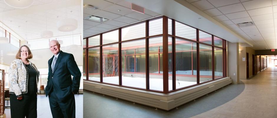 Sauk Prairie Healthcare CEO and CFO - Window Filled Hallway