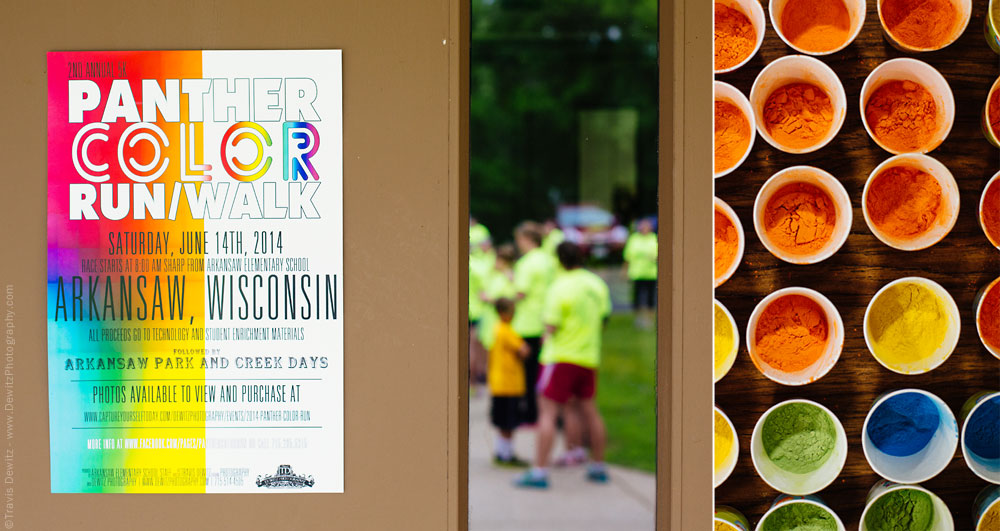 panther_color_run_2014_poster_and_cups_of_color_powder