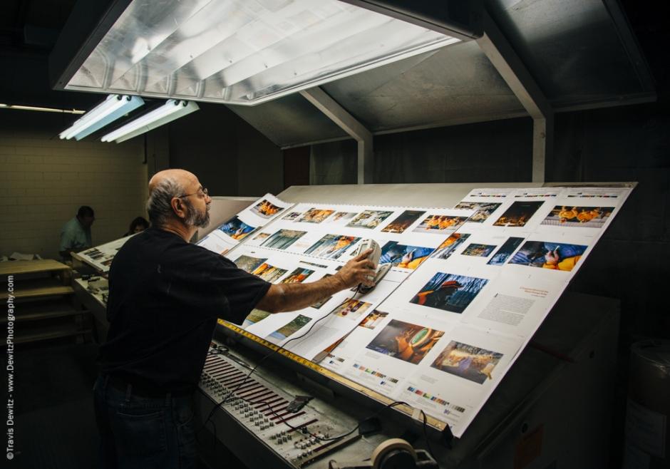 Blaze Orange Book - Worzalla Publishing- Color Check on Light Table