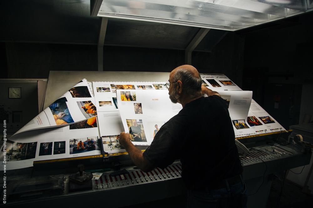 Blaze Orange Book - Worzalla Publishing- Inspecting on the Light Table