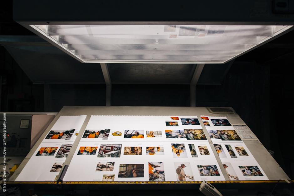 Blaze Orange Book - Worzalla Publishing- Press Sheet On Light Table