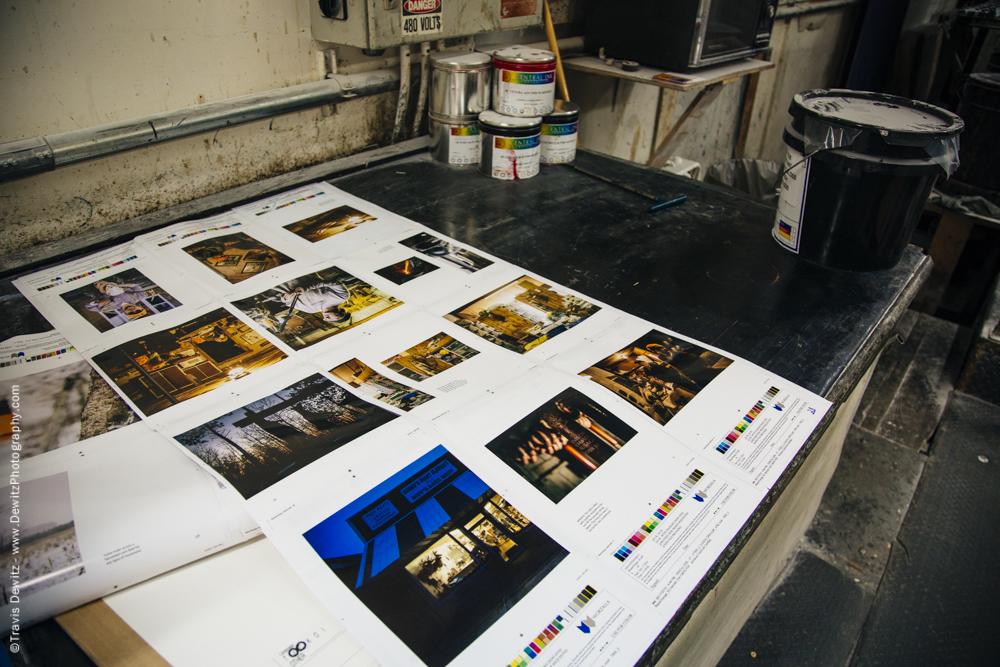 Blaze Orange Book - Worzalla Publishing- Press Sheets on the Bench