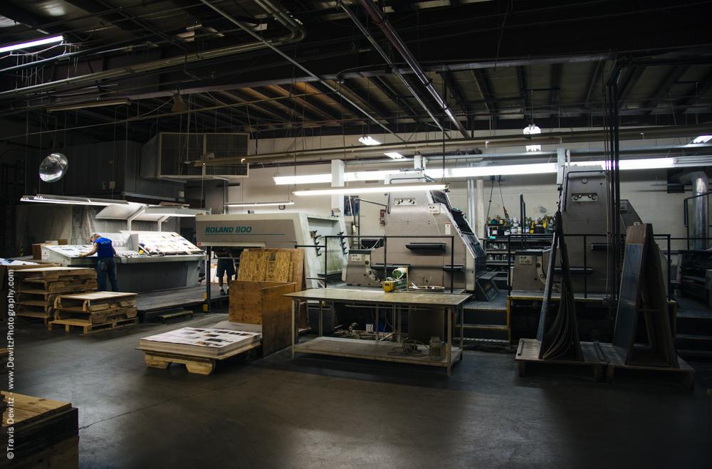 Blaze Orange Book - Worzalla Publishing-Roland 800 Printing Press and Inspection
