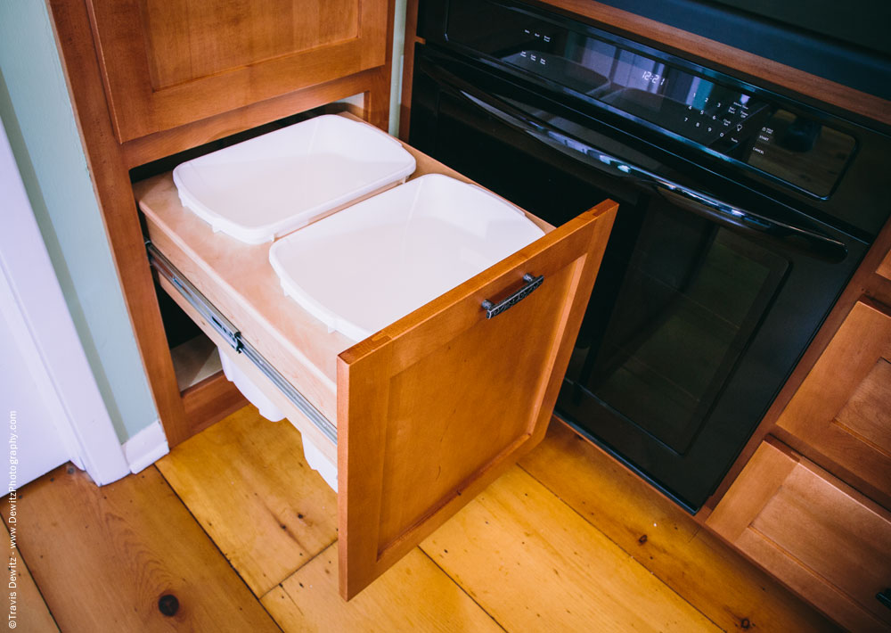 Dovetail Designs - Custom Kitchen Cabinet Recycling Slide Out
