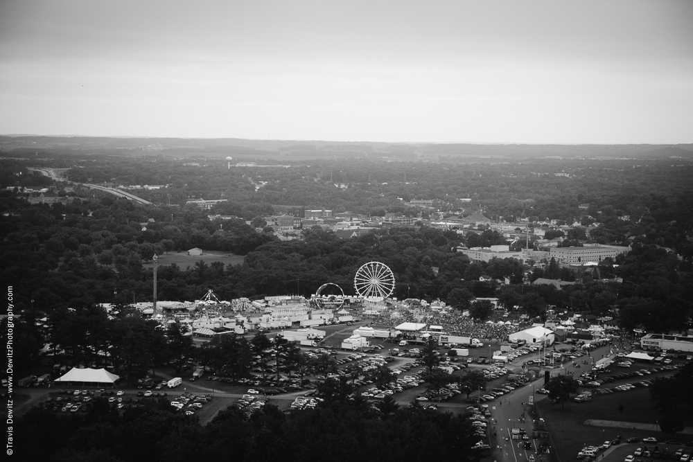 Northern Wisconsin State Fair Aerial of Ferris Wheel