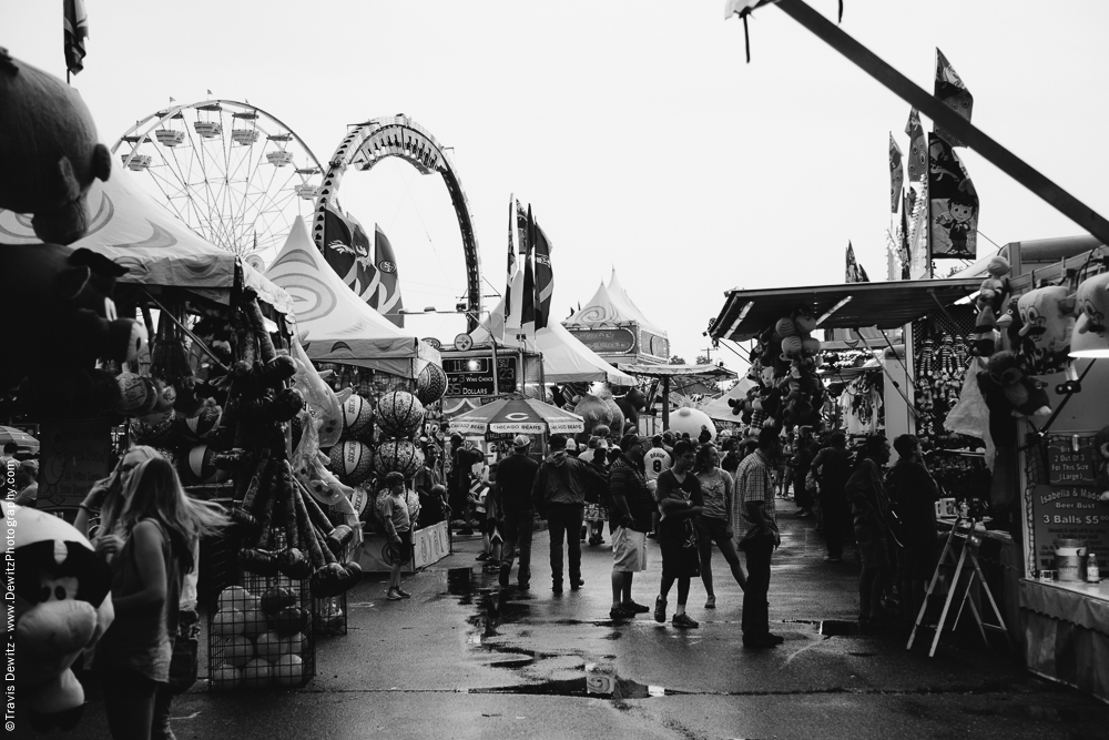 Northern Wisconsin State Fair Busy and Wet Midway
