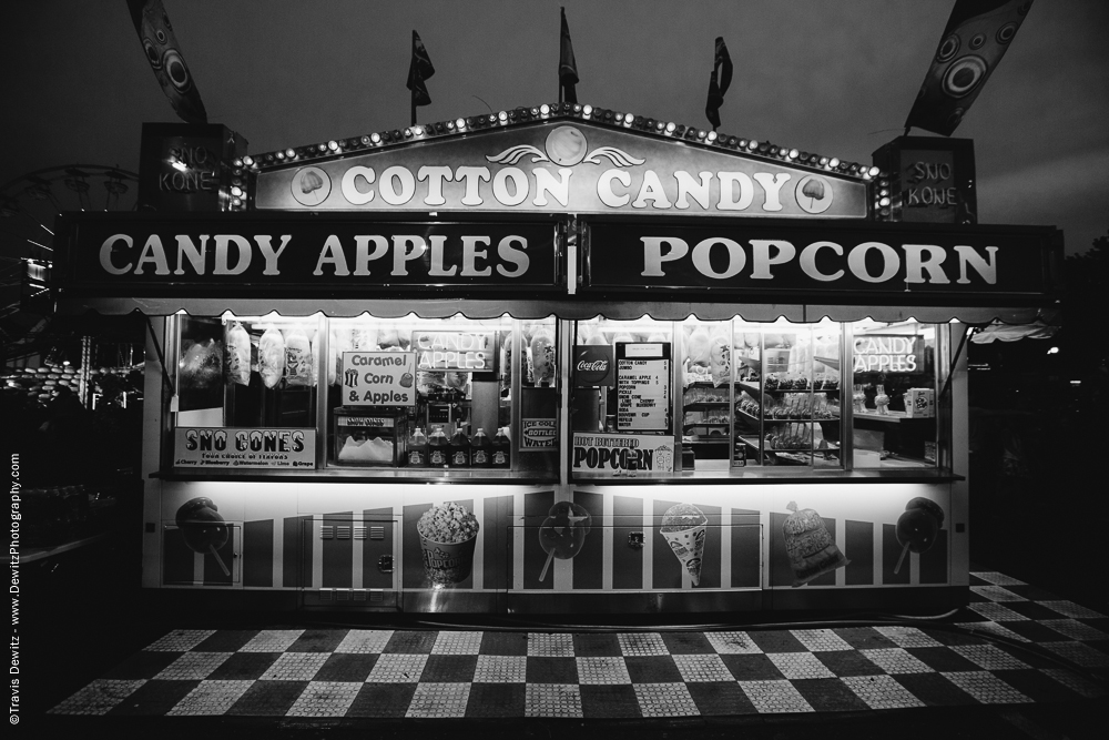 Northern Wisconsin State Fair Cotton Candy Apples and Popcorn