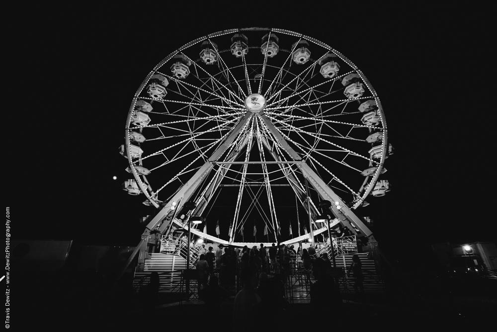 Northern Wisconsin State Fair Ferris Wheel at Night