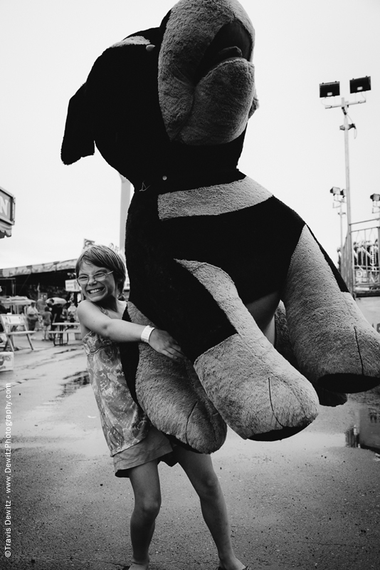 Northern Wisconsin State Fair Girl with Huge Dog
