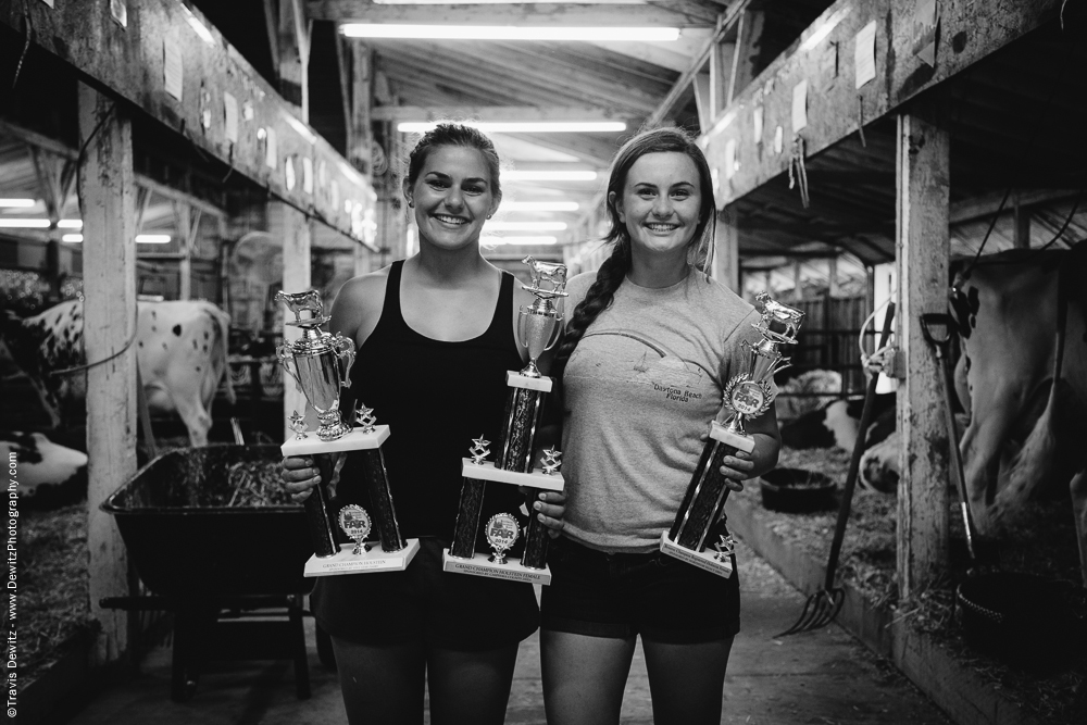 Northern Wisconsin State Fair Girls with Fair Trophies