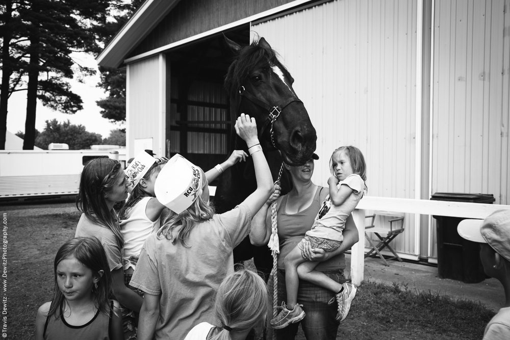 Northern Wisconsin State Fair Kids Petting Draft Horse