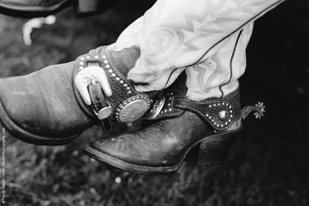 Northern Wisconsin State Fair Leather Cowgirl Boots