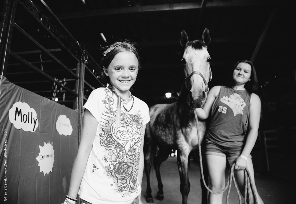 Northern Wisconsin State Fair Little Girl Portrait With Horse