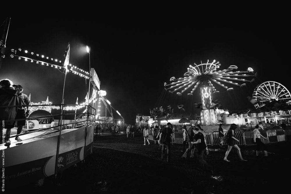 Northern Wisconsin State Fair Midway Rides at Night