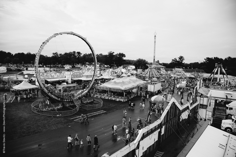 Northern Wisconsin State Fair Midway View