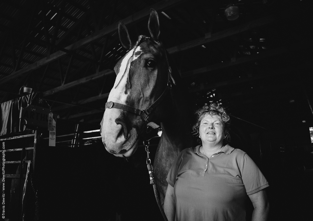 Northern Wisconsin State Fair Portrait With Horse