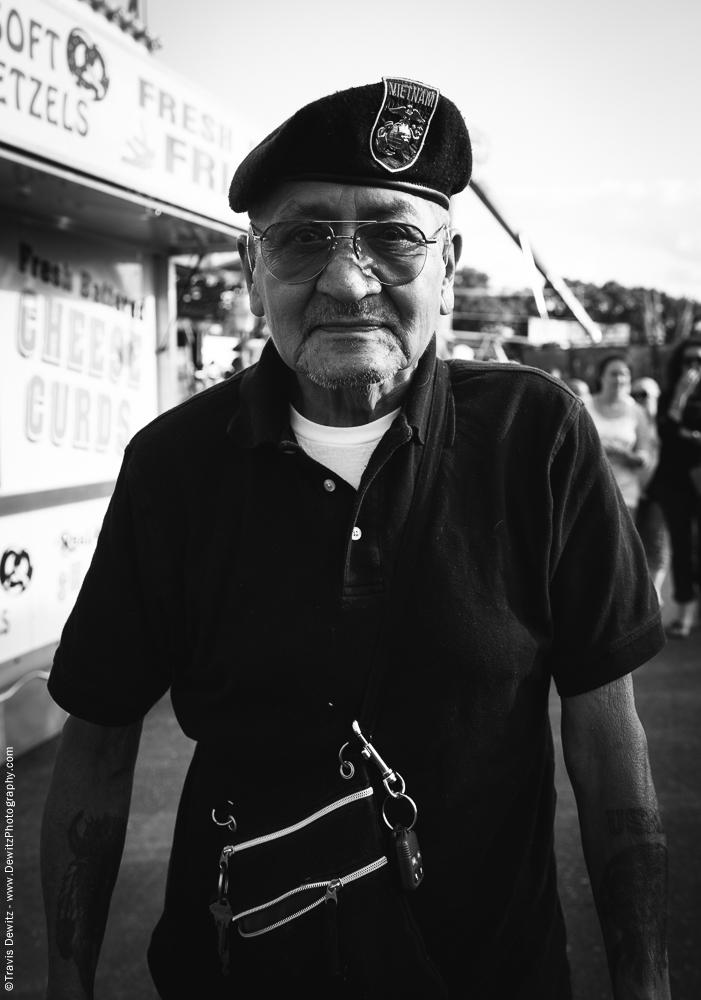 Northern Wisconsin State Fair Portrait With Vietnam Veteran