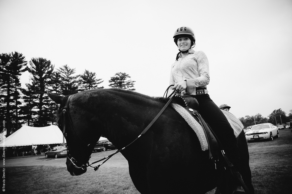 Northern Wisconsin State Fair Teen on Riding Horse