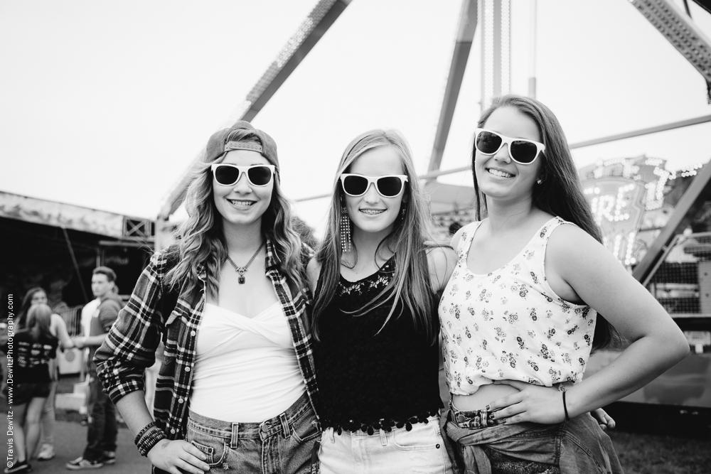Northern Wisconsin State Fair Three Girls Pose