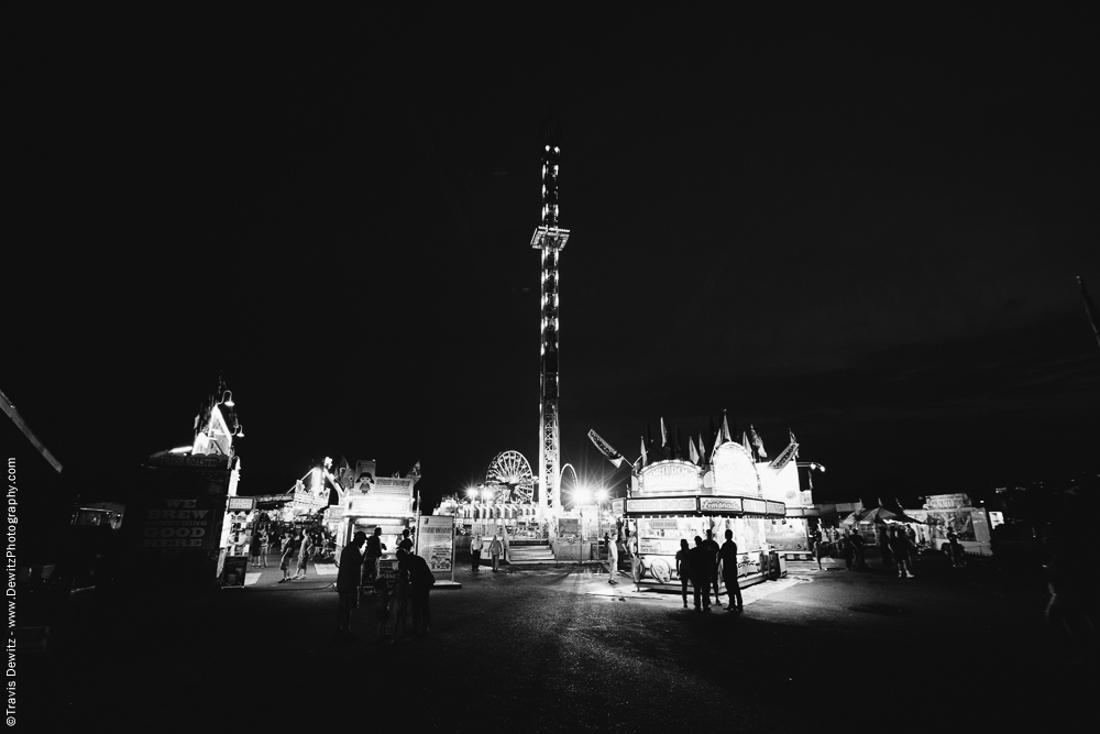 Northern Wisconsin State Fair at Night