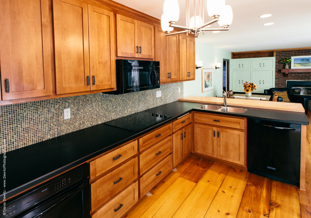 Custom Built Kitchen Cabinet Installation Product Photography