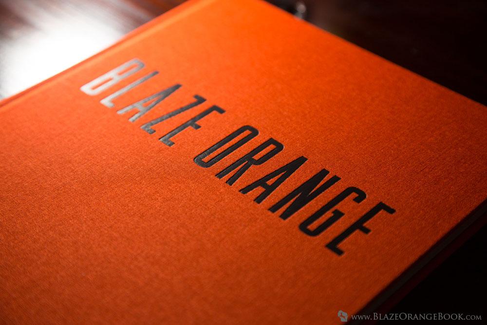 Blaze Orange Wisconsin Hunting Book- Embossed Cloth Cover