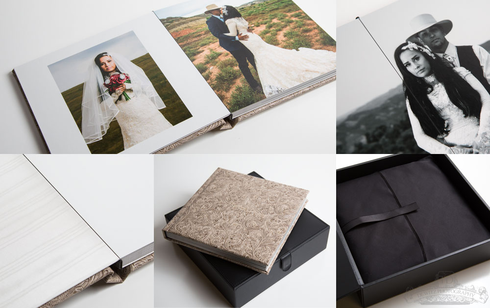 Premium Leather Wedding Album and Leather Box