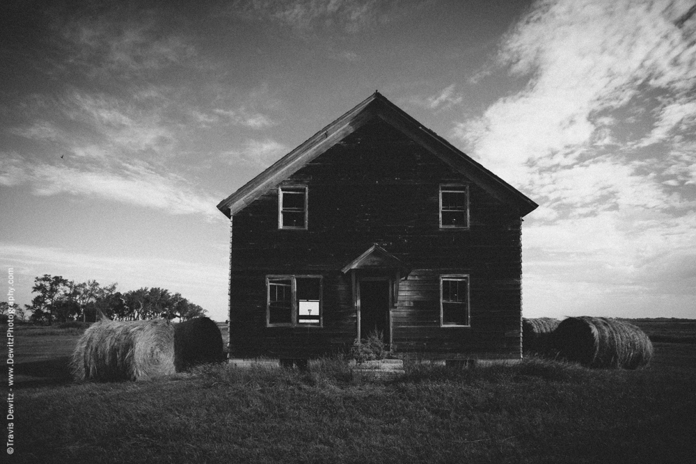 Abandoned House in Farm Field