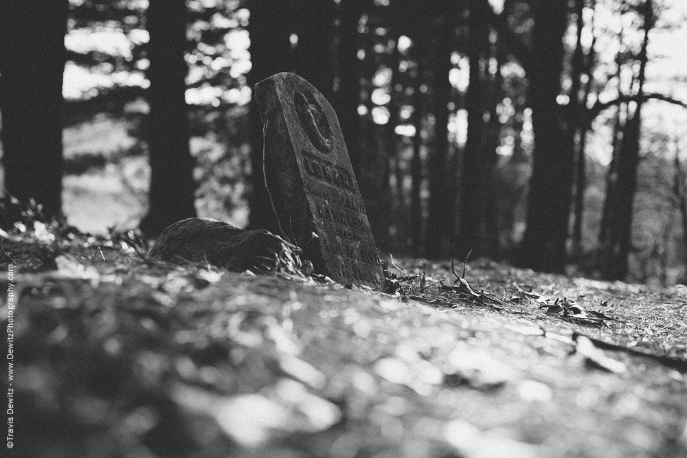 Grave Stone in the Woods
