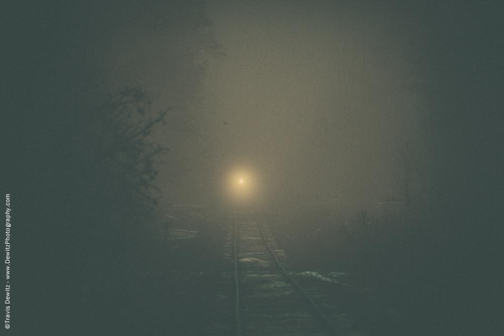 Lone Light Coming Down Tracks
