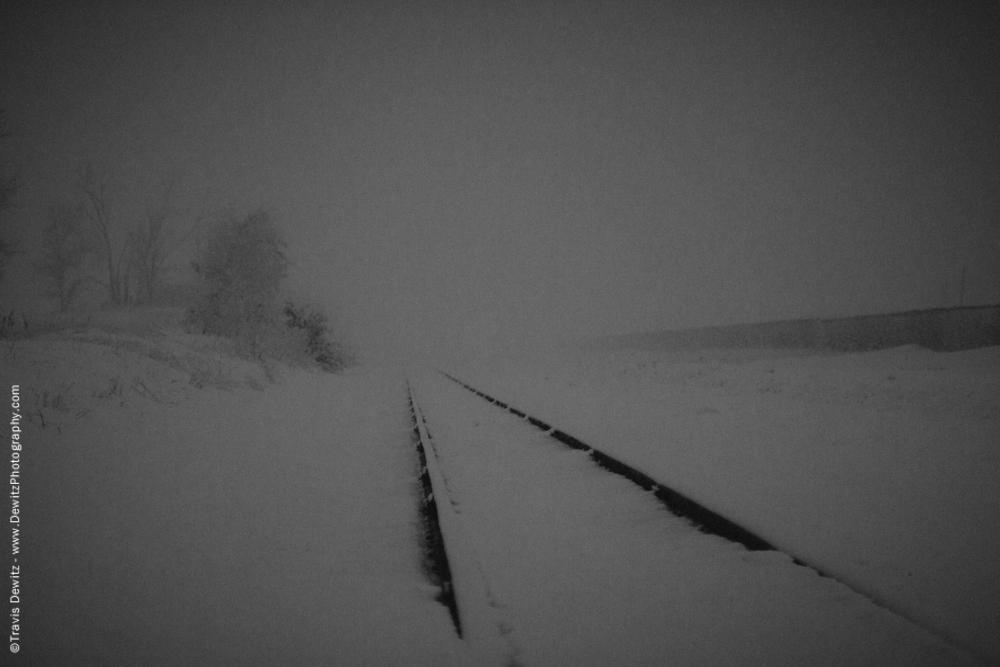 Snow Blown Train Tracks