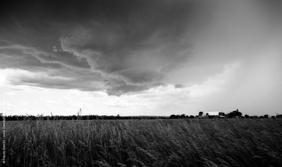 Thunderstorm over Farm