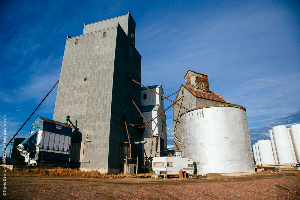 Camper Parked at Grain Elevator - Williston, ND
