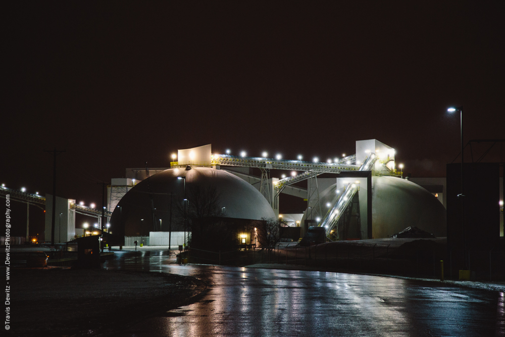 EOG Sand Facility at Night