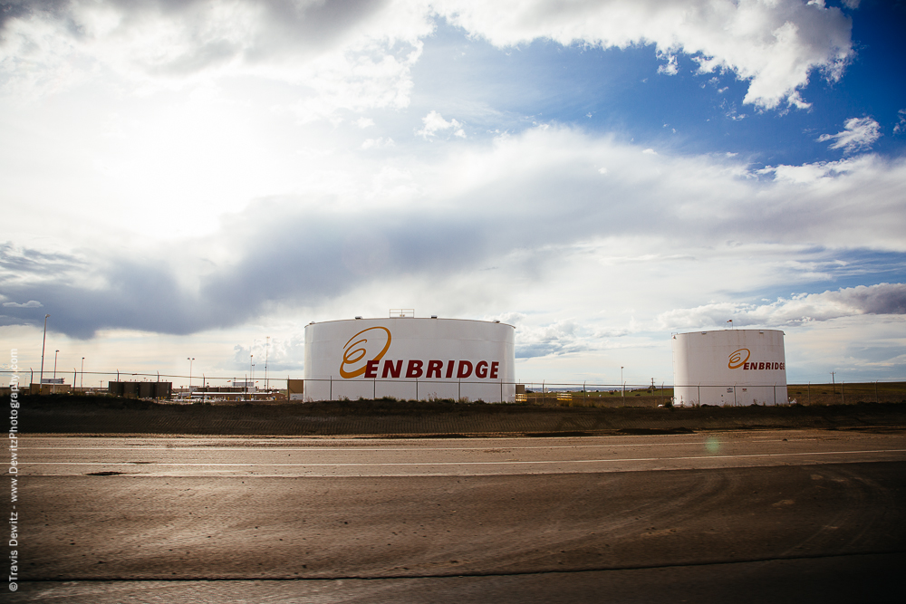 Enbridge Tanks in the Bakken