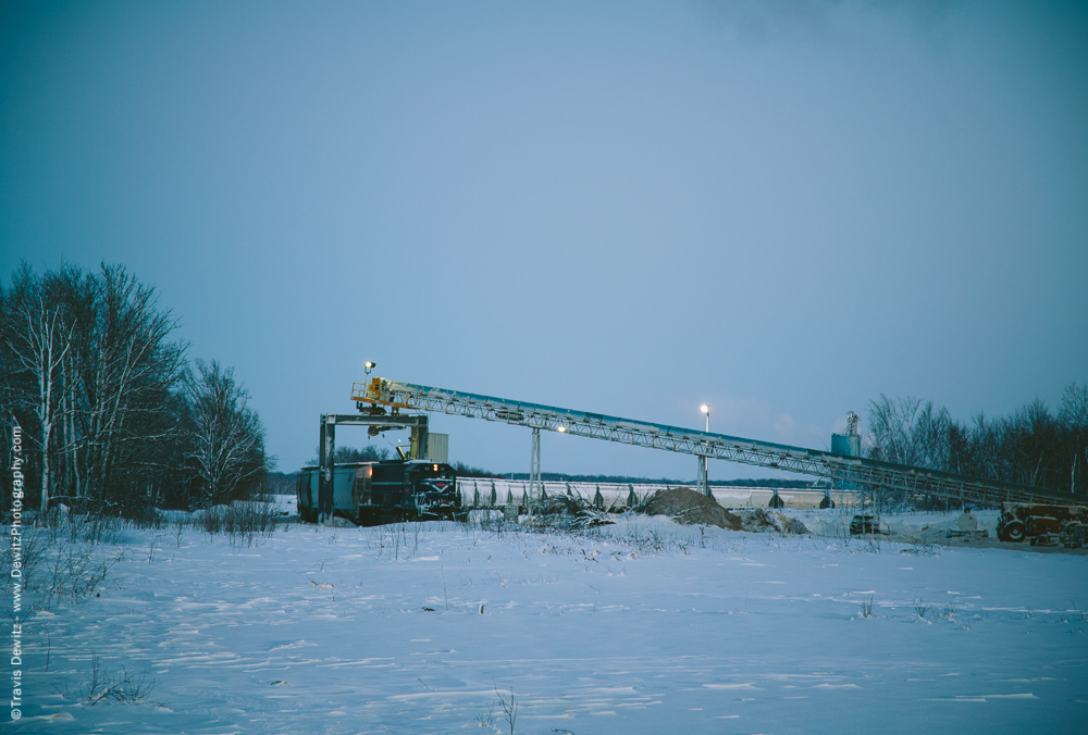 Loading Sand in the Winter