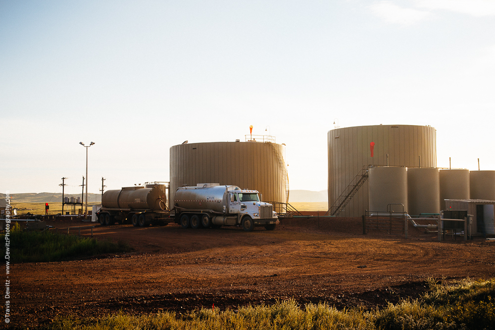 Oil Truck and Bakken Transfer Station