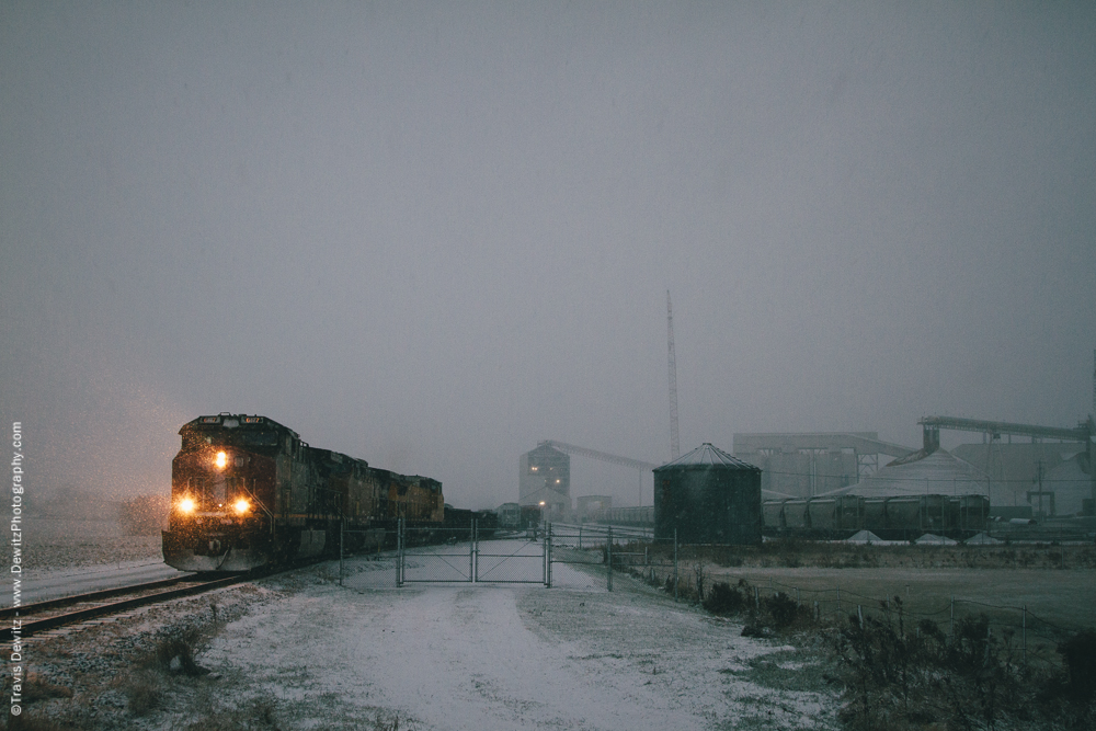Sand Train in Snow Storm - Chippewa Falls