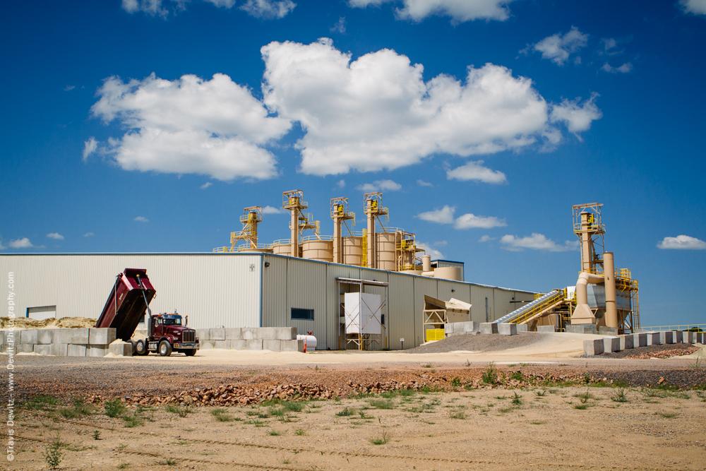 Unloading Frac Sand - Marshfield, WI
