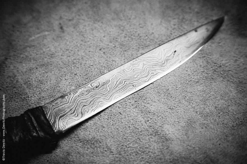 Damascus Steel Knife Blade